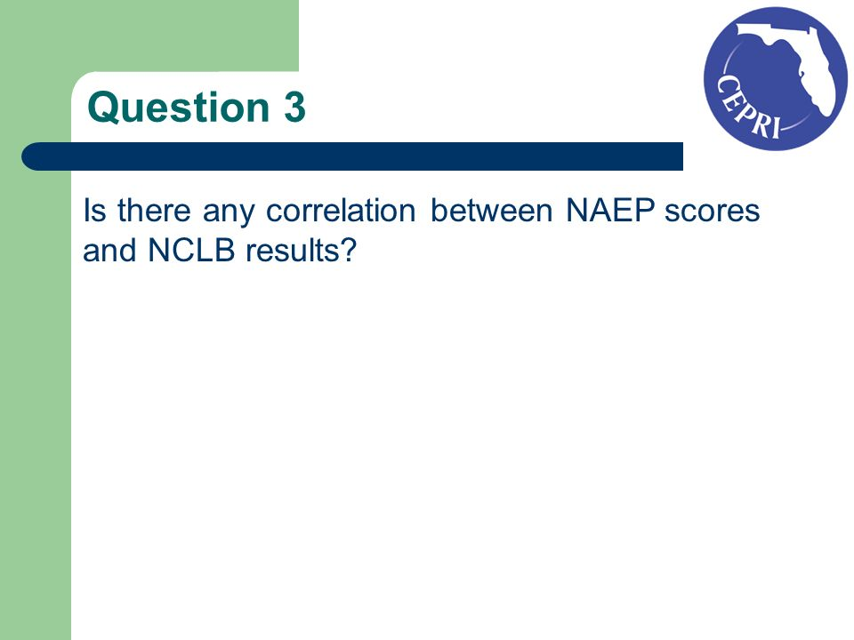 Question 3 Is there any correlation between NAEP scores and NCLB results