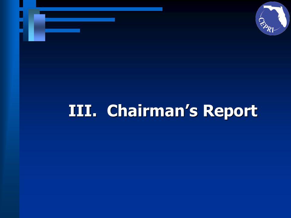 IV. Executive Directors Report