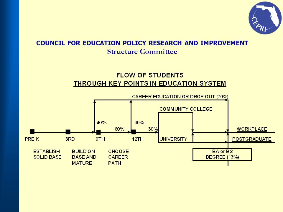 COUNCIL FOR EDUCATION POLICY RESEARCH AND IMPROVEMENT Structure Committee