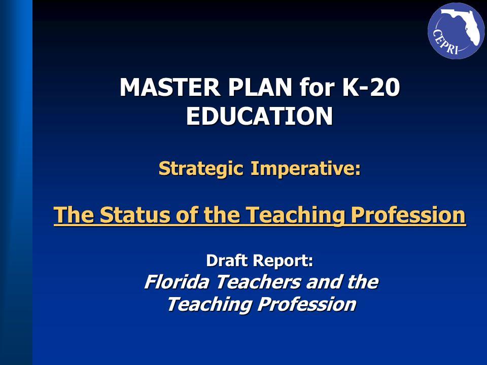 Teacher Retention 7) A minimum salary level for all Florida 7) A minimum salary level for all Florida teachers should be established by the teachers should be established by the Legislature.