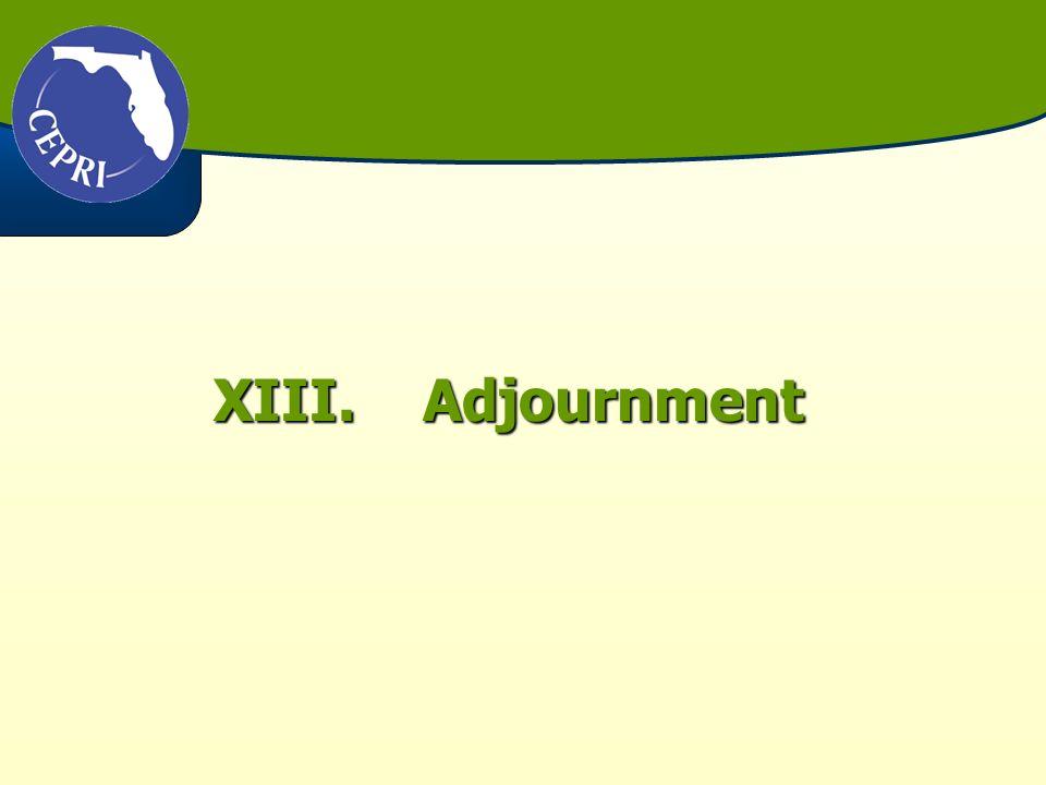XIII.Adjournment