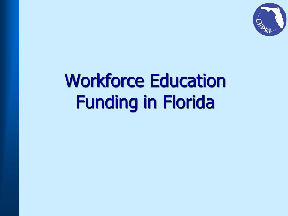 Workforce Education Funding in Florida