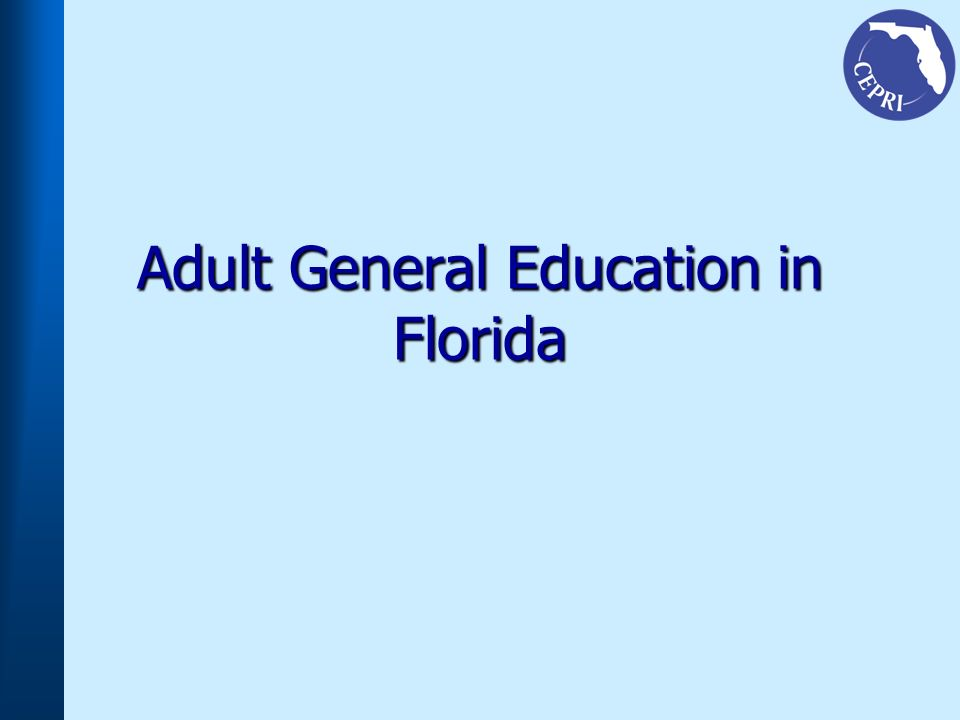 Adult General Education in Florida