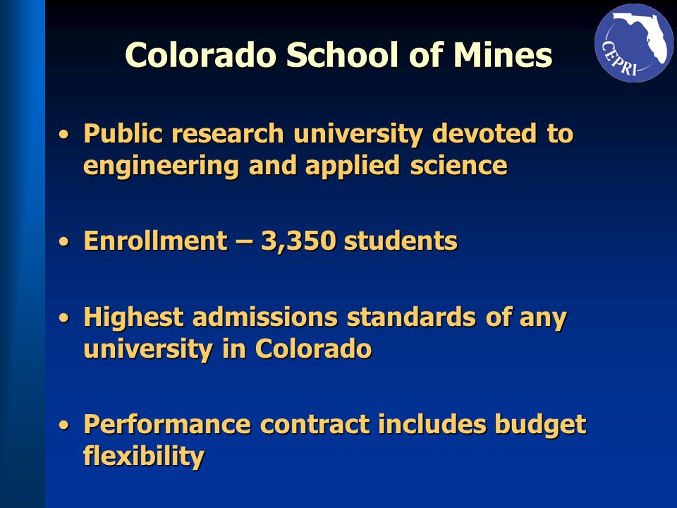 Colorado School of Mines Public research university devoted to engineering and applied sciencePublic research university devoted to engineering and ap