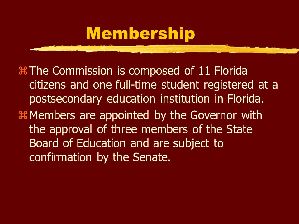 Other Statutory Responsibilities zAnnually evaluate the College Reach-Out Program (CROP) zOversee workforce grant programs zAssist the Florida Partnership for School Readiness and the Education Standards Commission in a review of existing postsecondary child care and early childhood education programs