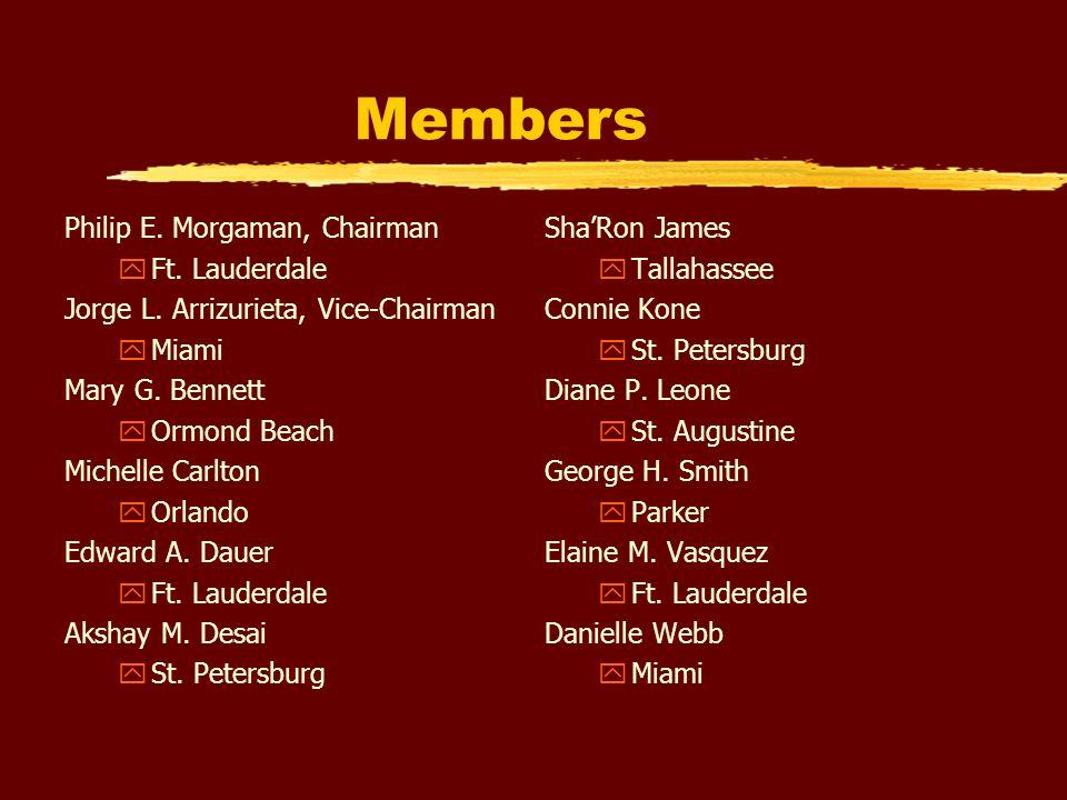 Members Philip E. Morgaman, Chairman yFt. Lauderdale Jorge L.