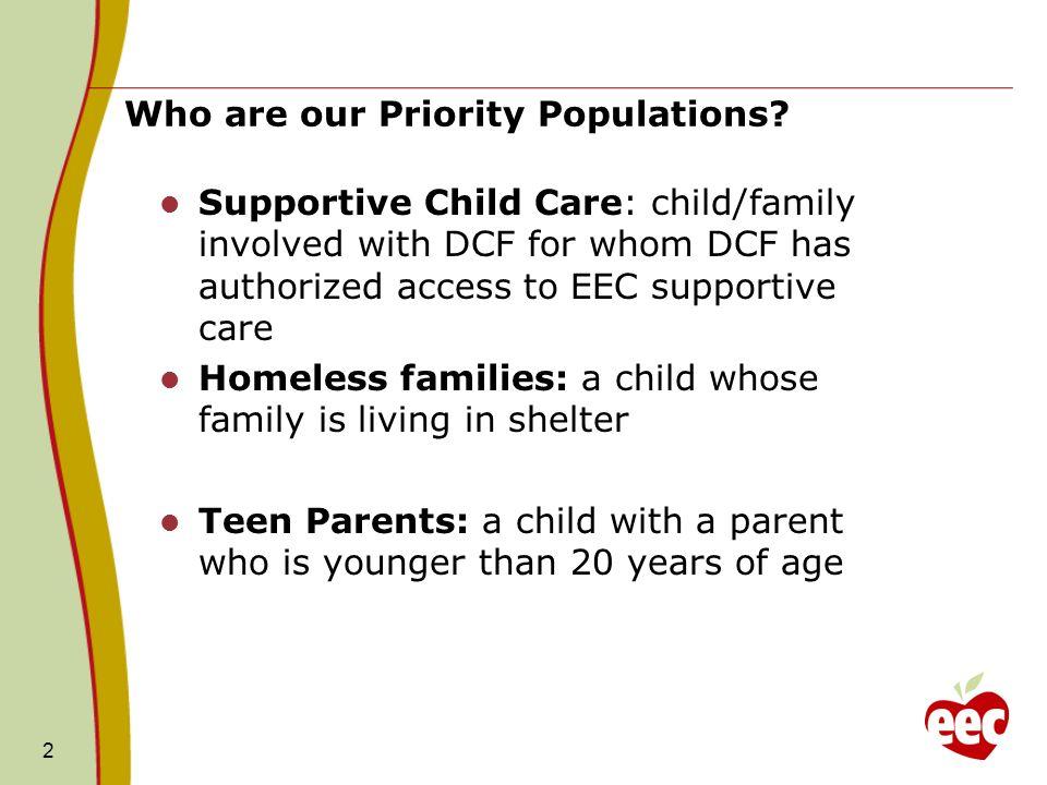 EEC Priority Populations Funding 13