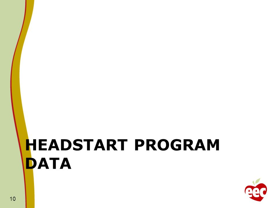 HEADSTART PROGRAM DATA 10