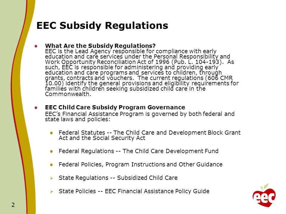 3 FY11 EEC Budget Breakdown