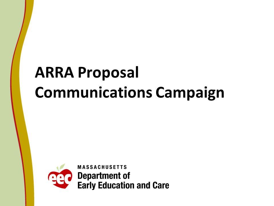 ARRA Proposal Communications Campaign