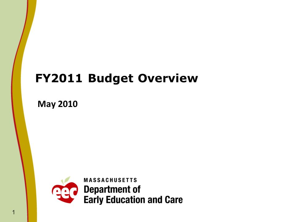 1 FY2011 Budget Overview May 2010