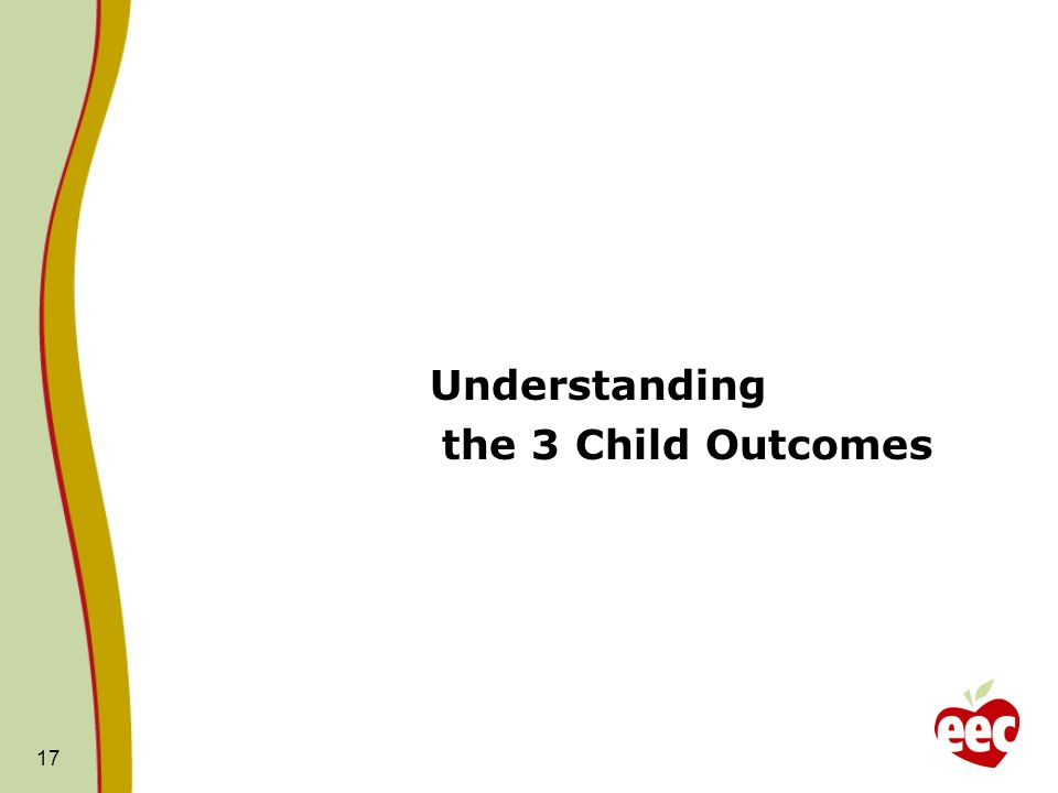 17 Understanding the 3 Child Outcomes