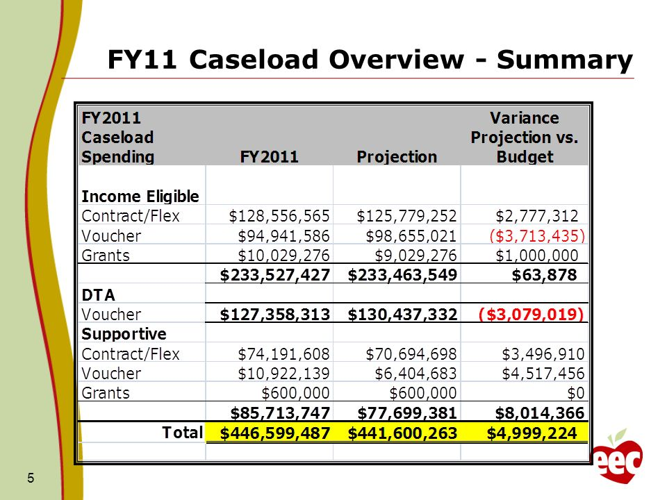 FY11 Caseload Overview - Summary 5