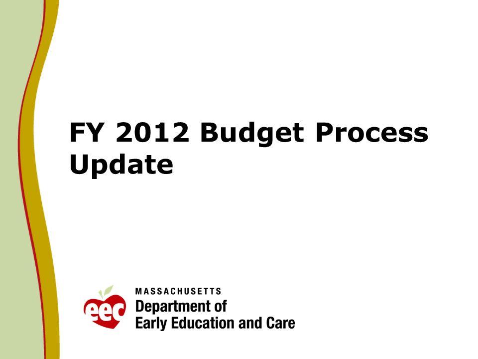 FY 2012 Budget Process Update
