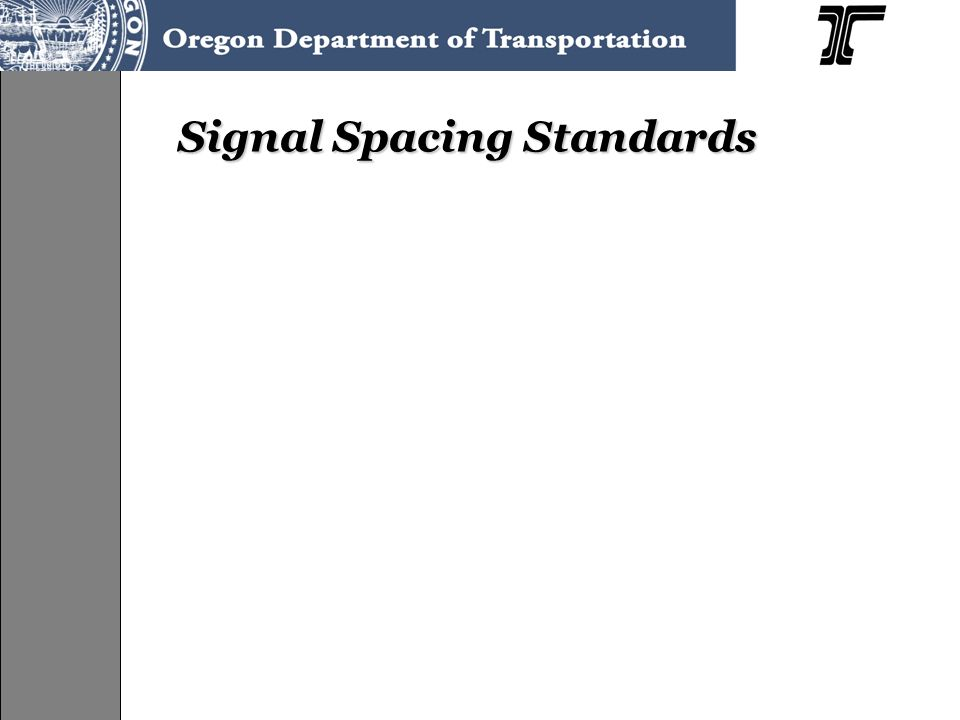Signal Spacing Standards