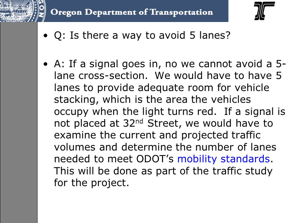 Q: Is there a way to avoid 5 lanes.