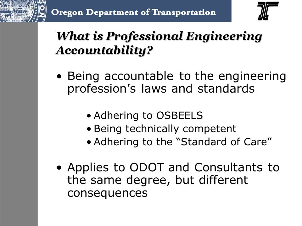 What is Professional Engineering Accountability.
