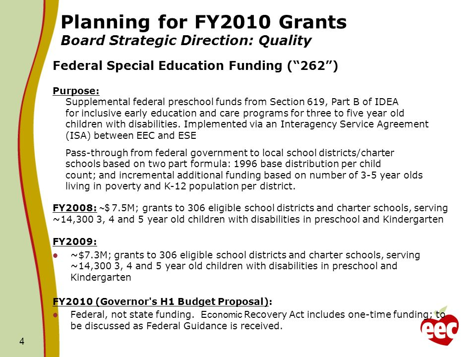 5 Planning for FY2010 Grants Strategic Direction: Quality Universal Pre-Kindergarten Purpose: Promote school readiness, support and enhance the quality of services for all children and especially for children at-risk of school failure and/or poor developmental outcomes within a mixed public and private service delivery system.