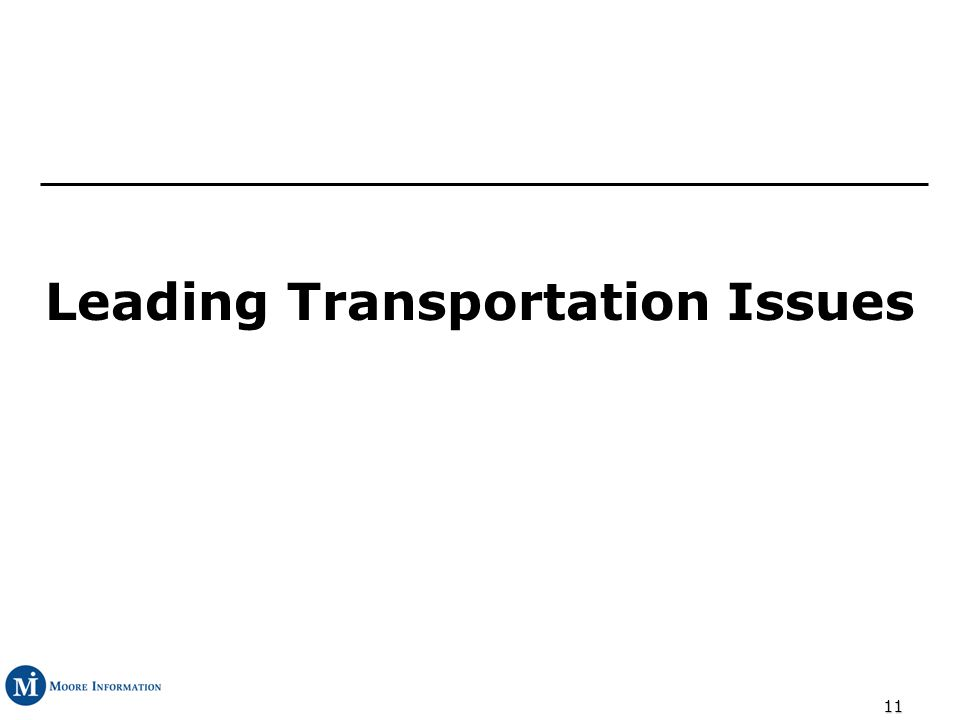 11 Leading Transportation Issues