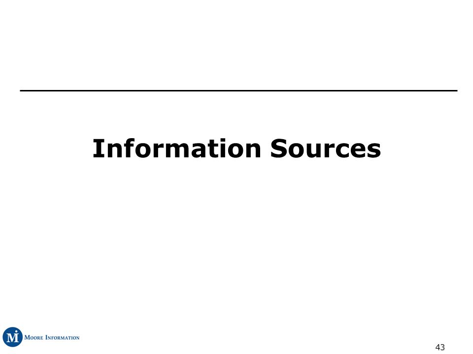 43 Information Sources