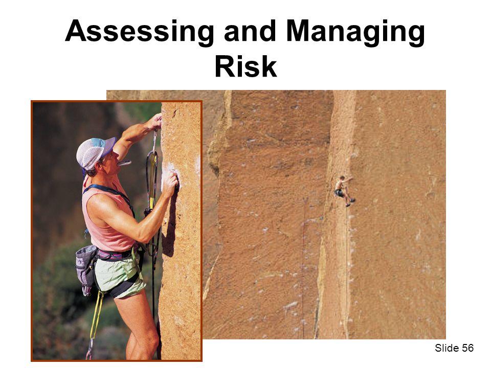 Slide 56 Assessing and Managing Risk