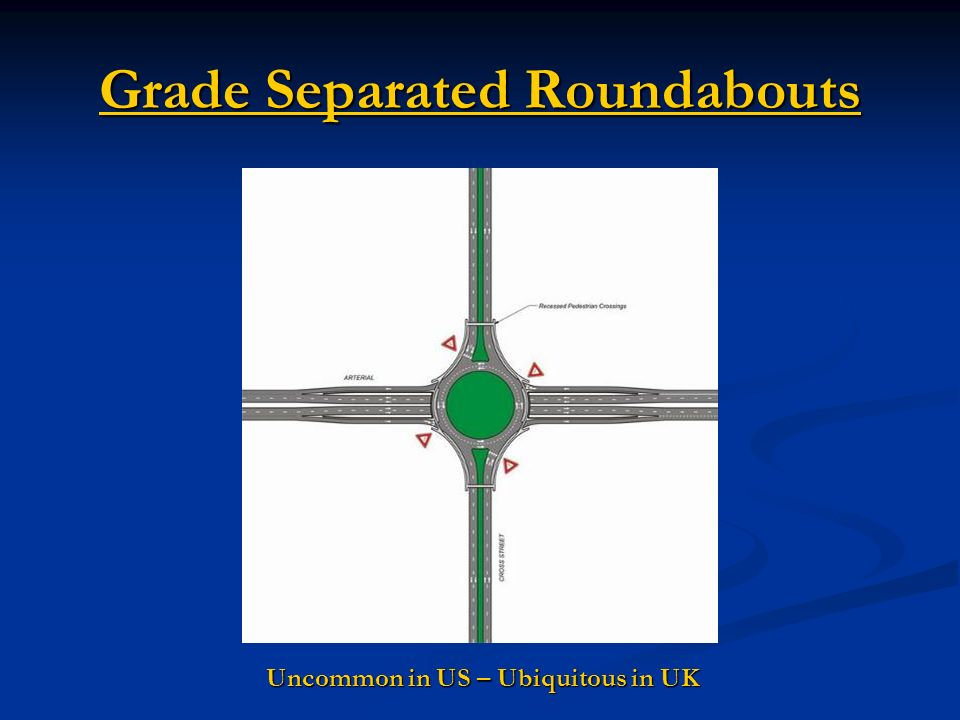 Grade Separated Roundabouts Uncommon in US – Ubiquitous in UK
