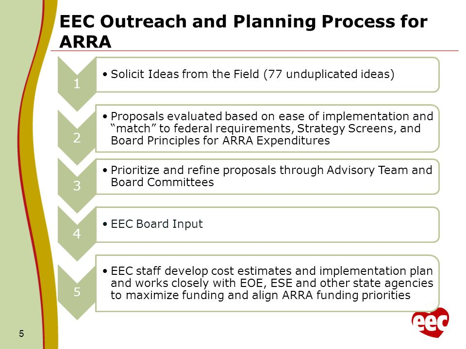 EEC Outreach and Planning Process for ARRA 5