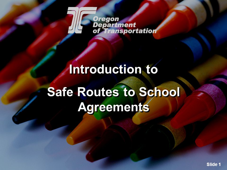 Slide 2 Safe Routes to School Purpose Safe Routes to School (SRTS) programs are part of the solution to increase physical activity and improve unsafe walking and bicycling conditions.