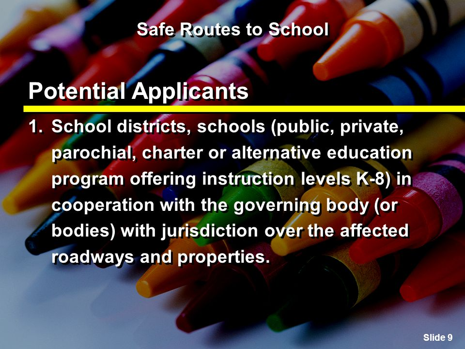Slide 20 Safe Routes to School Creating the Action Plan Section 3: Assessing modes of student travel The Parent Survey collects information about factors, beliefs and attitudes that affect parents decisions about their children walking or bicycling to school.