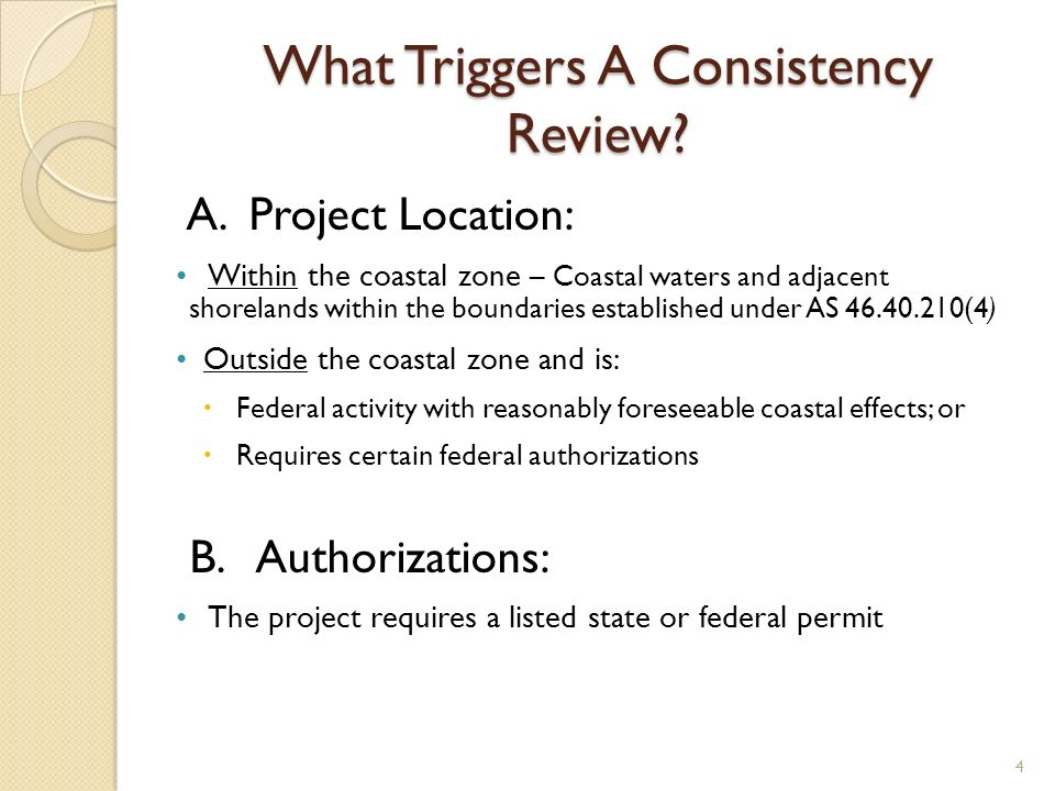 What Triggers A Consistency Review. A.