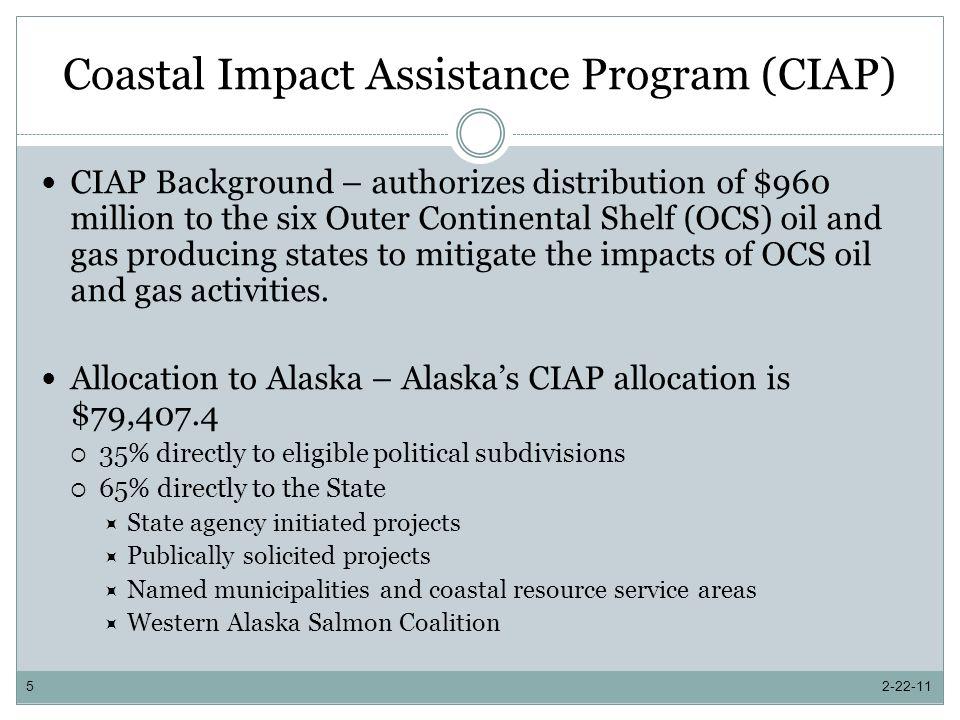 Coastal Impact Assistance Program 2-22-116