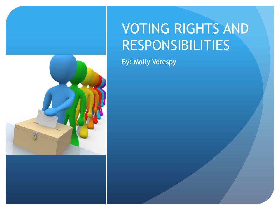 VOTING RIGHTS AND RESPONSIBILITIES By: Molly Verespy