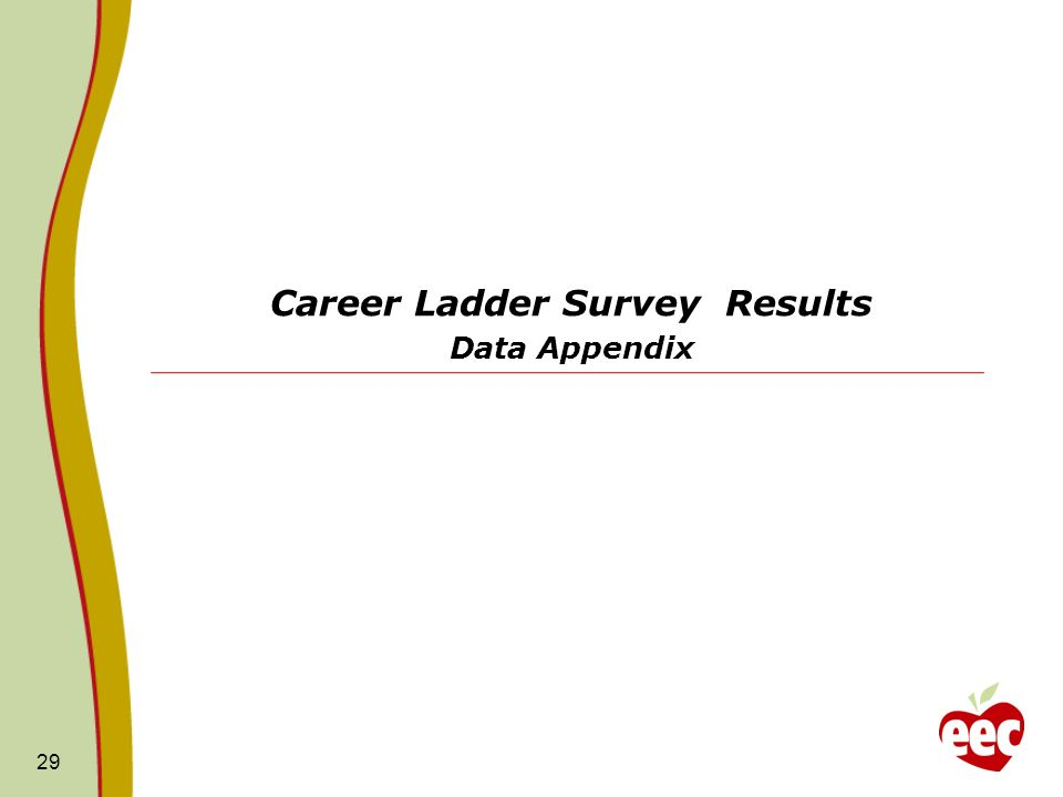 Career Ladder Survey Results Data Appendix 29