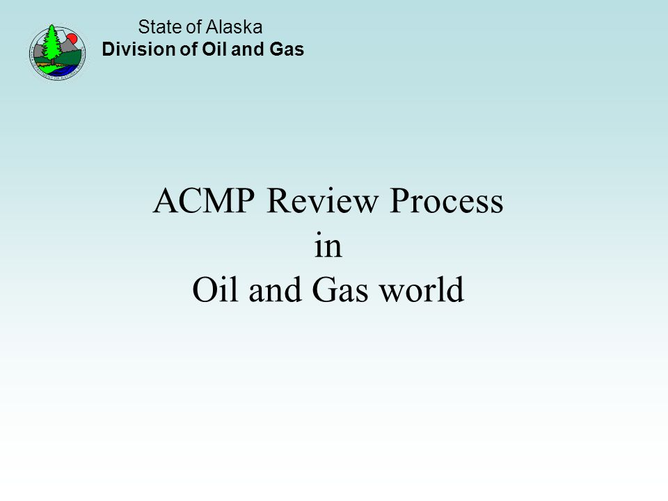 ACMP Review Process in Oil and Gas world