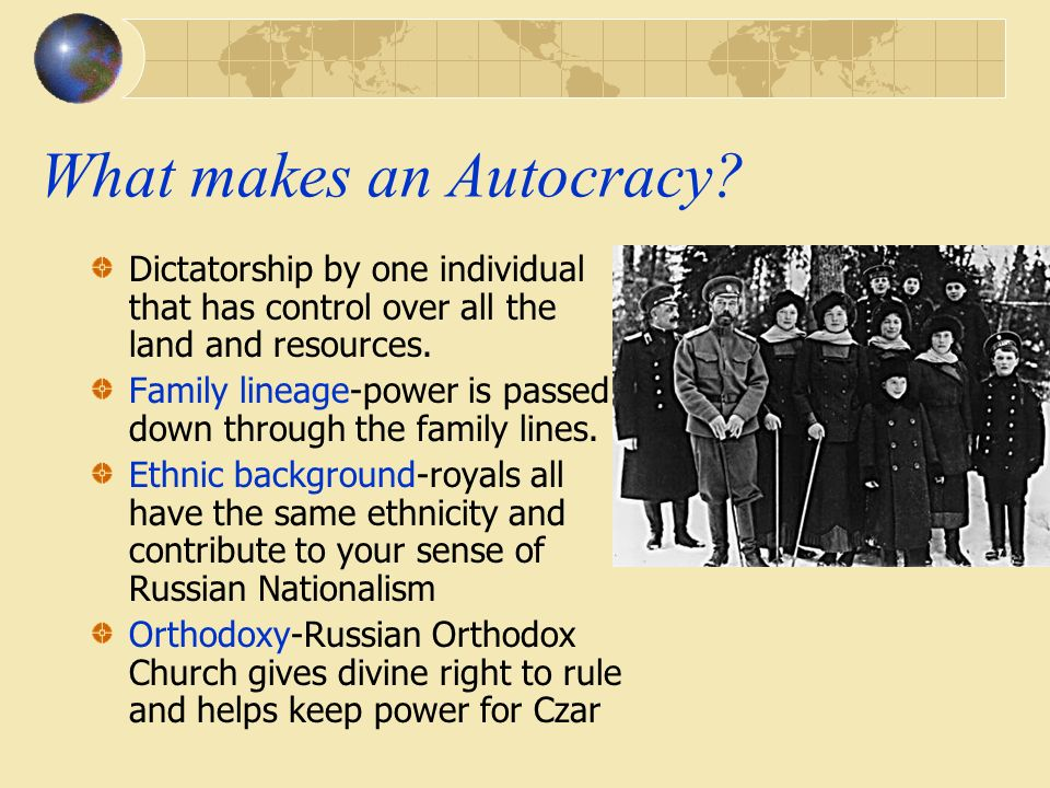What makes an Autocracy.