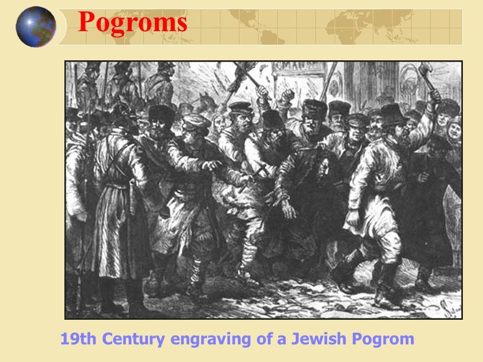 Pogroms 19th Century engraving of a Jewish Pogrom
