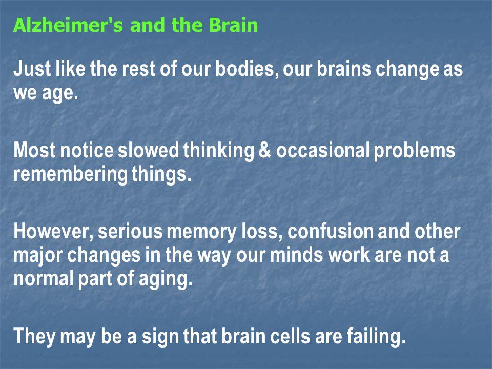The brain has 100 billion nerve cells (neurons).