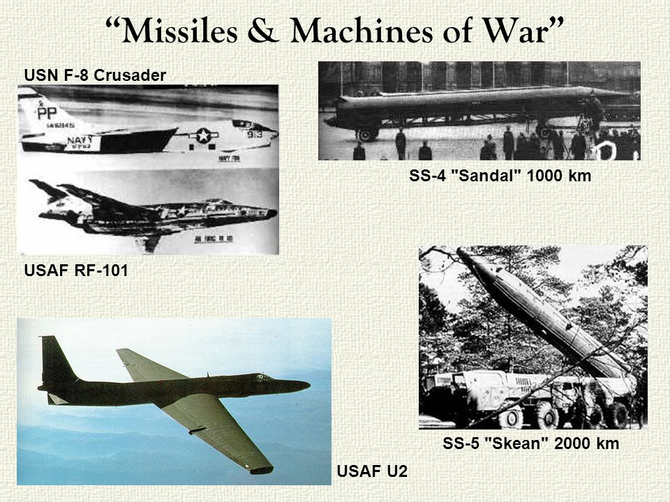 Missiles & Machines of War USN F-8 Crusader USAF RF-101 USAF U2 SS-4