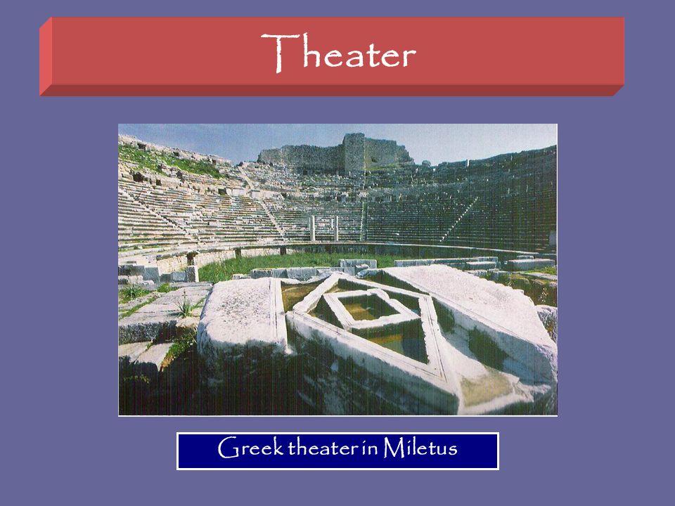 Theater Greek theater in Miletus