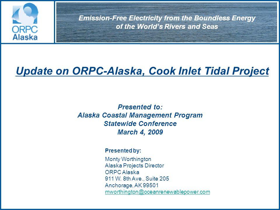 Patent applications filed Core Component of OCGen Technology www.oceanrenewablepower.com ORPC Turbine Generator Unit (TGU)