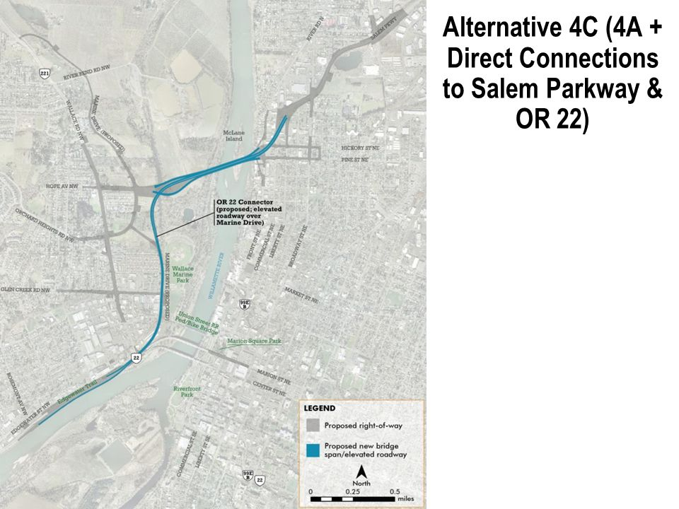 Alternative 4C (4A + Direct Connections to Salem Parkway & OR 22) 16