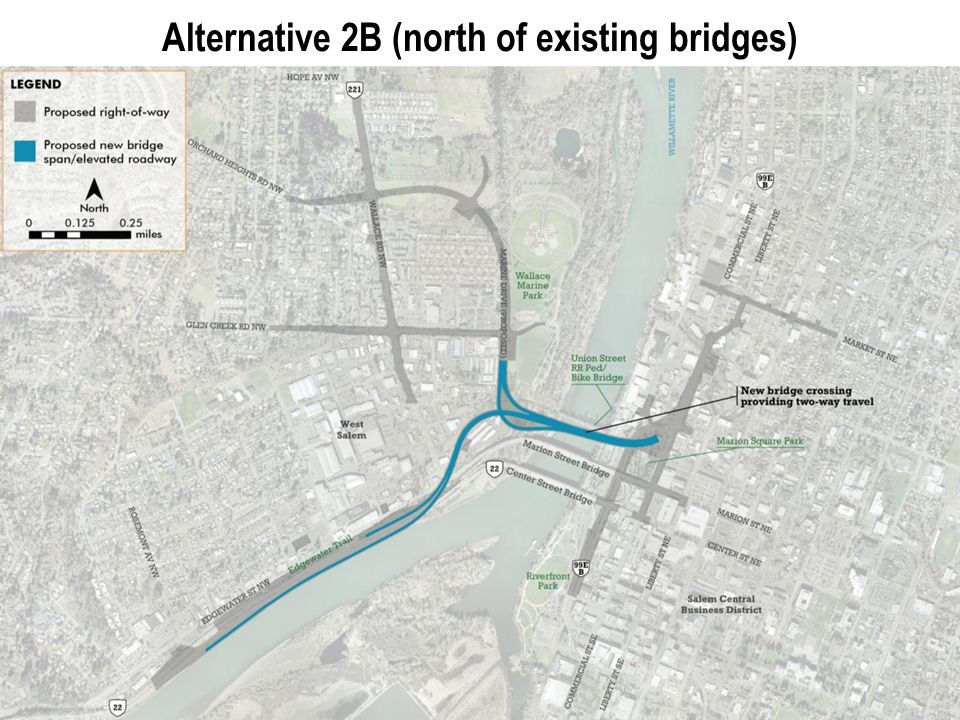 8 Alternative 2B (north of existing bridges)