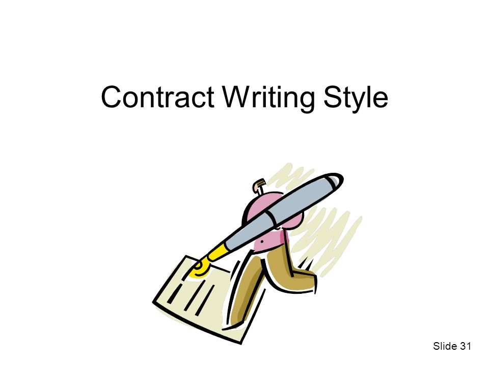 Contract Writing Style Slide 31