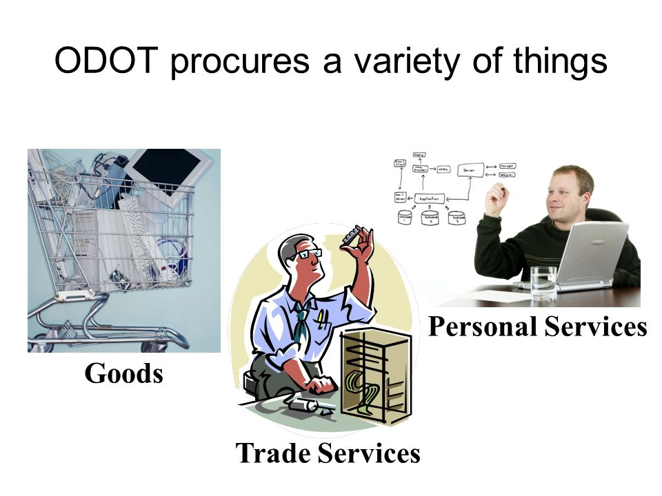 Trade Services Personal Services ODOT procures a variety of things Goods