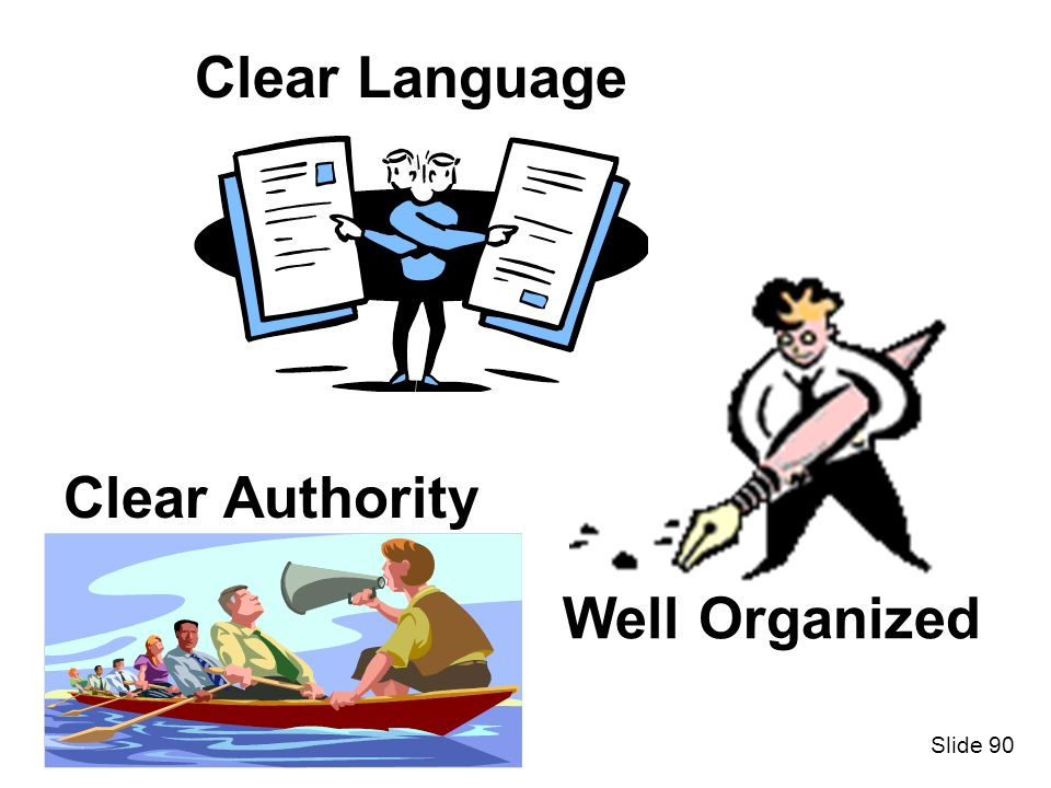 Clear Language Clear Authority Well Organized Slide 90