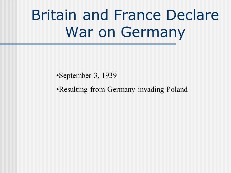 Germany Invades Denmark and Norway April 9, 1940 Surrendered to Germany Belgium and the Netherlands May 10, 1940 Netherlands surrender on May 15 Belgium on May 28