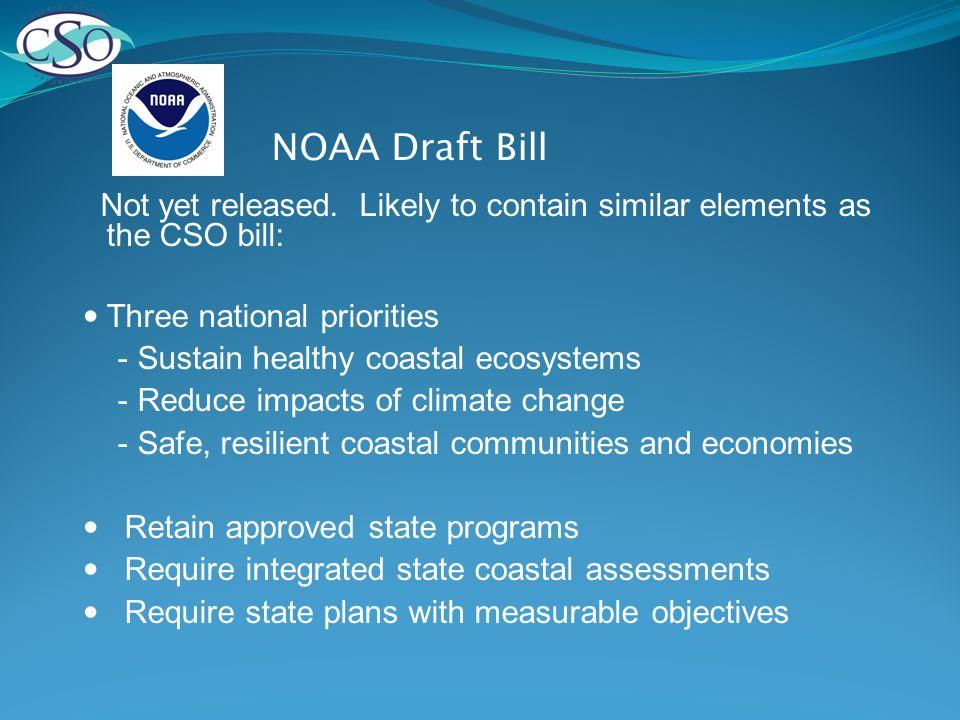 NOAA Draft Bill Not yet released.