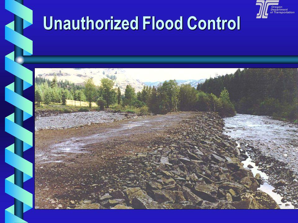 Unregulated In-stream Work Unregulated In-stream Work