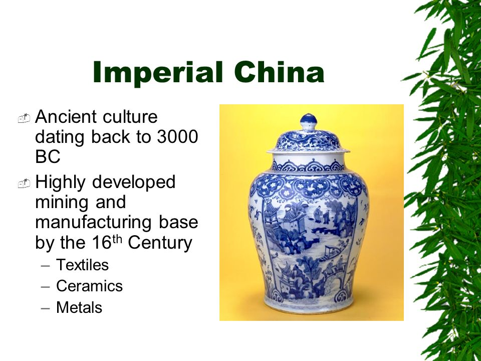 Imperial China Traditionally, imperial China was economically ISOLATED, and Chinese imperial government was hesitant to trade with Europe or their neighbors.
