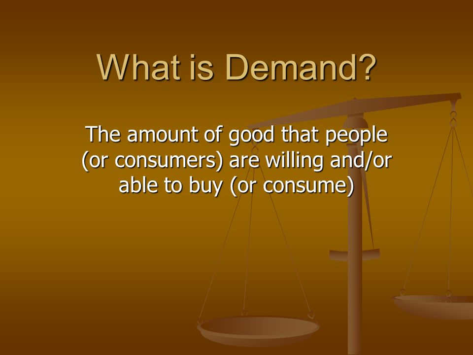 What is Demand.